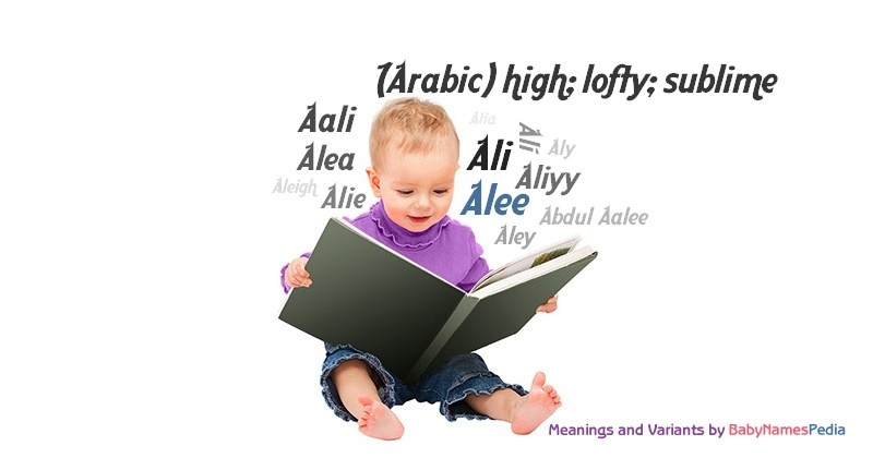 Meaning of the name Alee