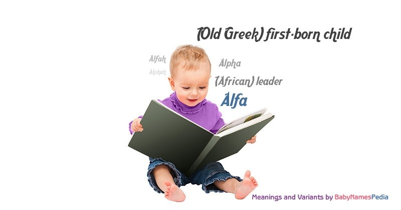 Meaning of the name Alfa