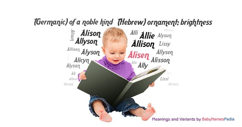 Meaning of the name Alisen