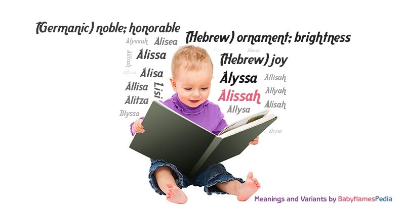 Meaning of the name Alissah