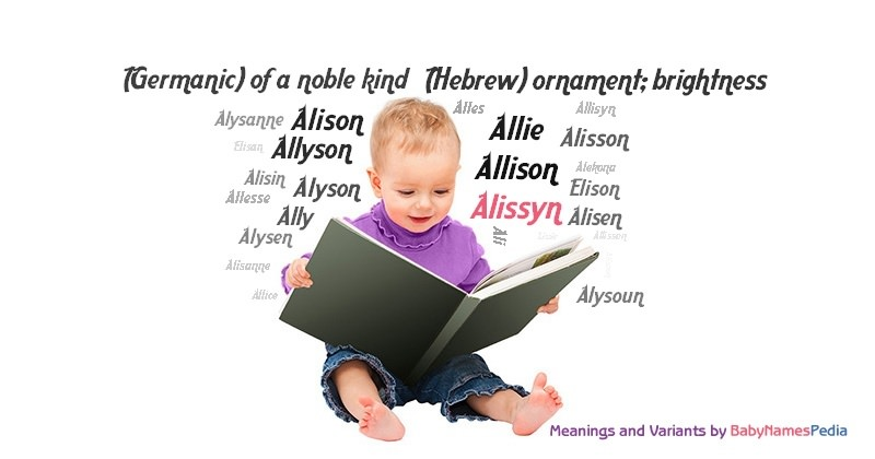 Meaning of the name Alissyn