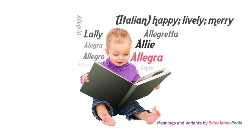 Meaning of the name Allegra