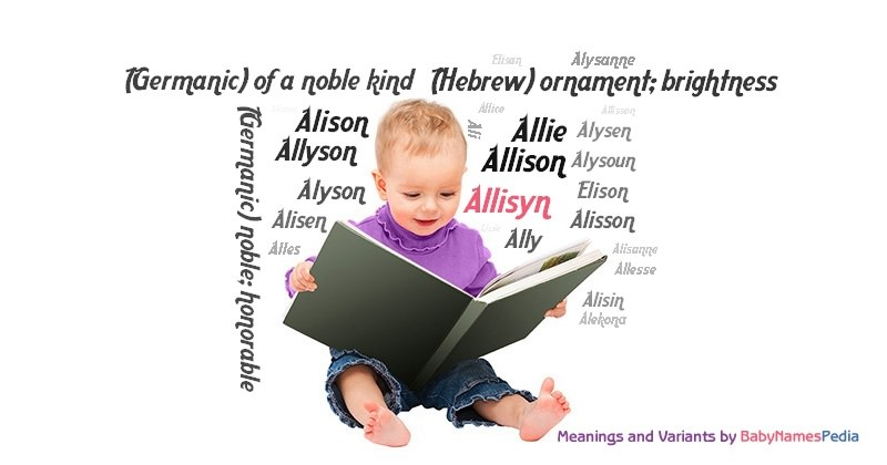Meaning of the name Allisyn