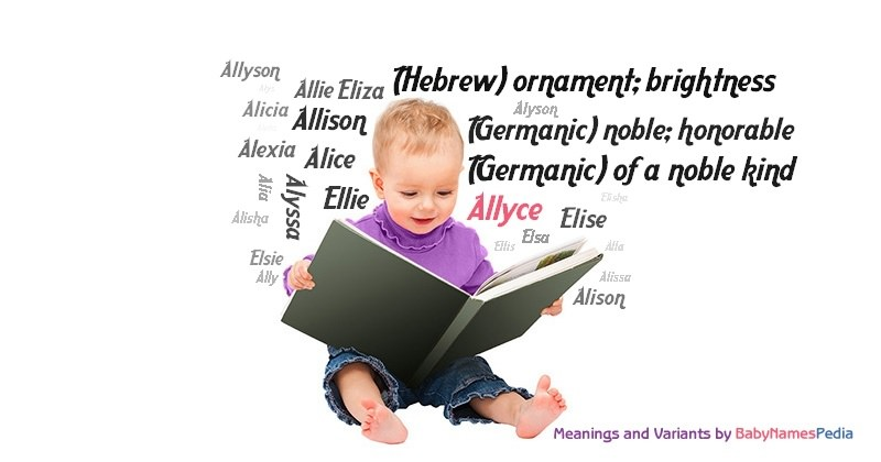 Meaning of the name Allyce