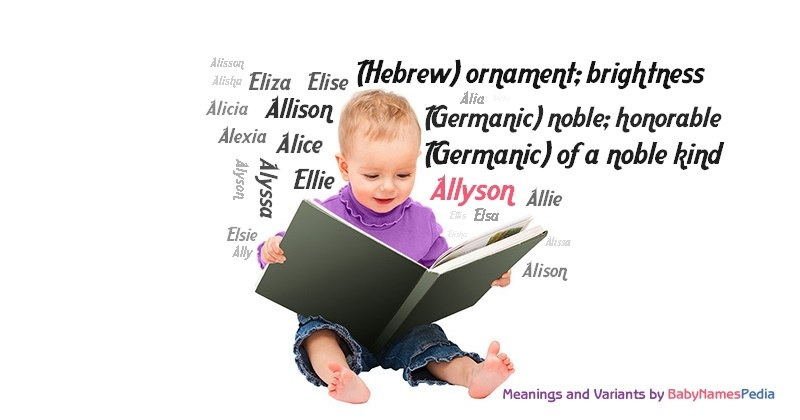 Meaning of the name Allyson