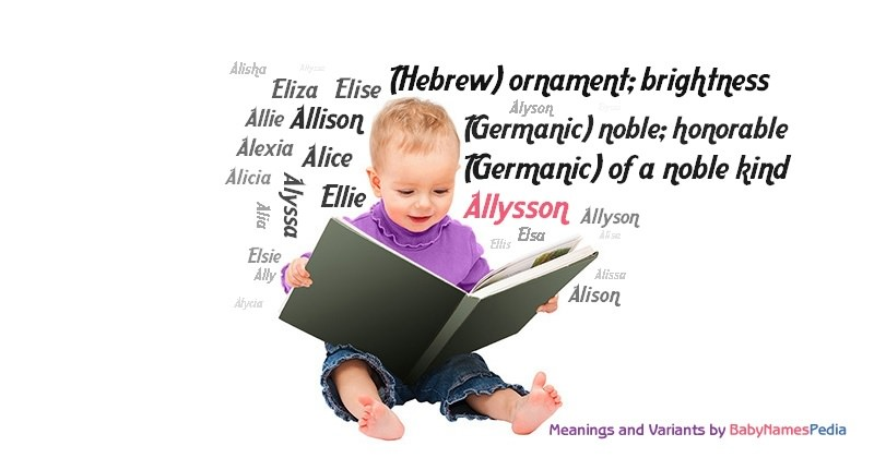 Meaning of the name Allysson