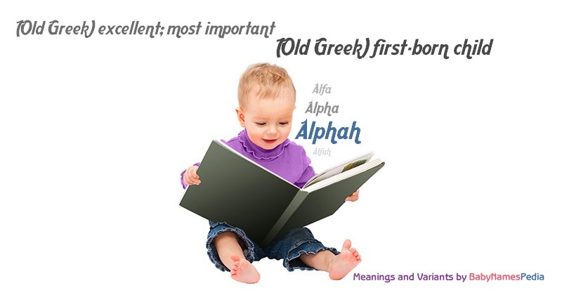 Meaning of the name Alphah