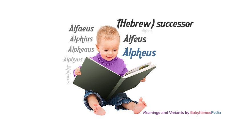 Meaning of the name Alpheus