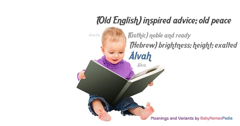 Meaning of the name Alvah