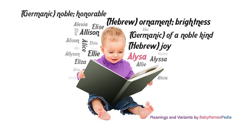 Meaning of the name Alysa