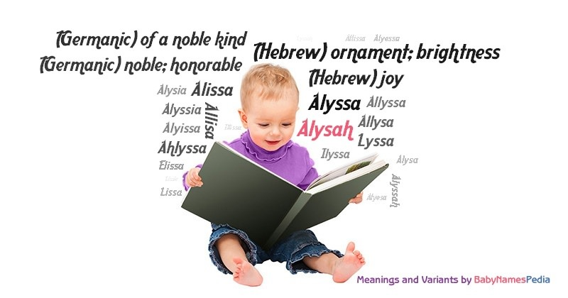 Meaning of the name Alysah
