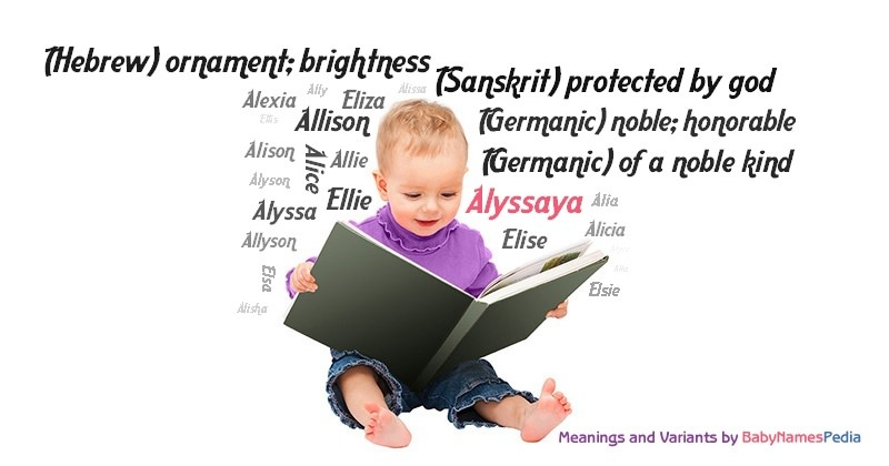 Meaning of the name Alyssaya