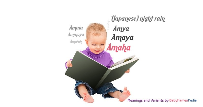 Meaning of the name Amaha