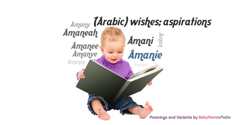 Meaning of the name Amanie