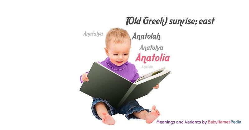 Meaning of the name Anatolia