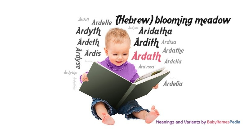 Meaning of the name Ardath