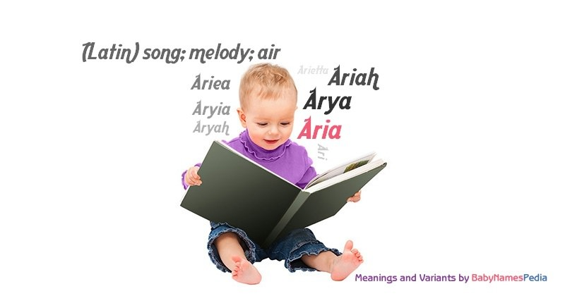 Meaning of the name Aria