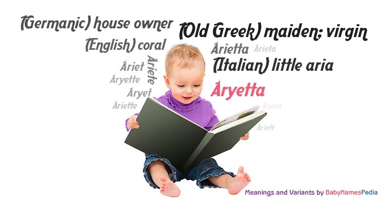 Meaning of the name Aryetta