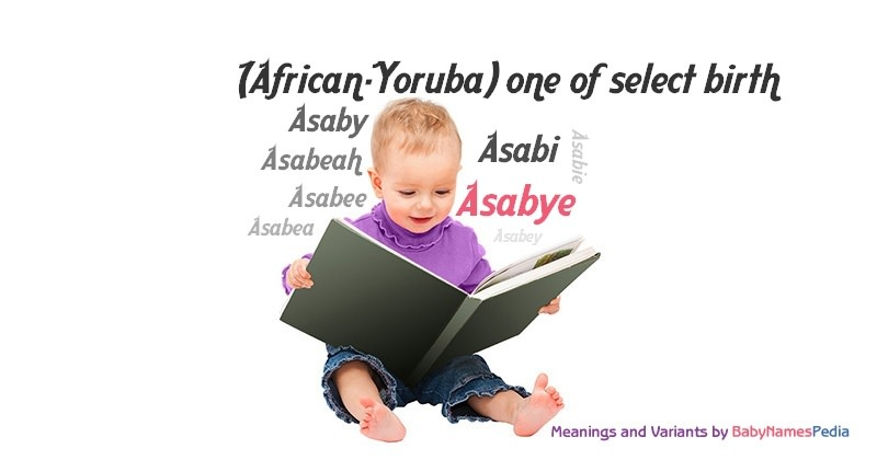 Meaning of the name Asabye