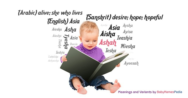 Meaning of the name Ashah
