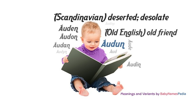 Meaning of the name Audun