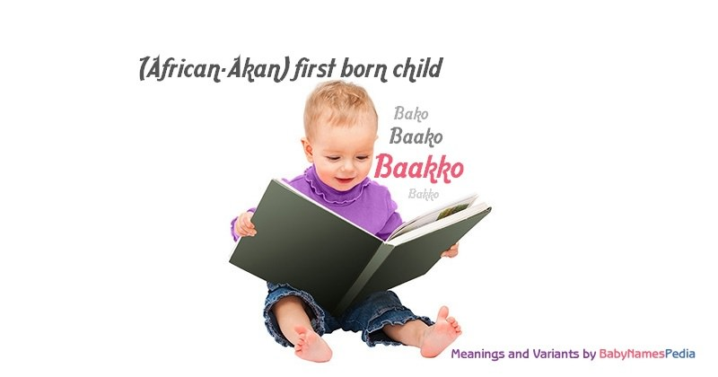 Meaning of the name Baakko