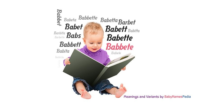 Meaning of the name Babbete