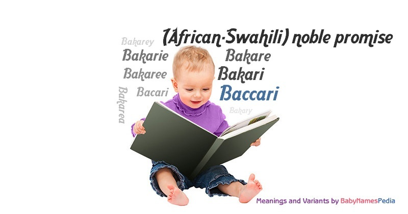 Meaning of the name Baccari
