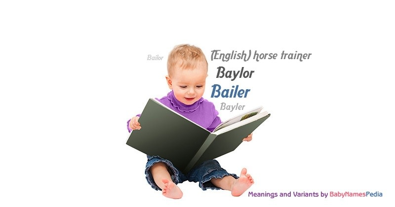 Meaning of the name Bailer