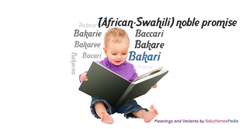 Meaning of the name Bakari