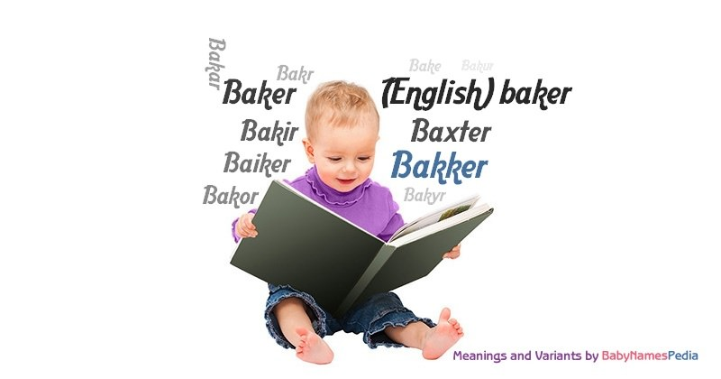 Meaning of the name Bakker