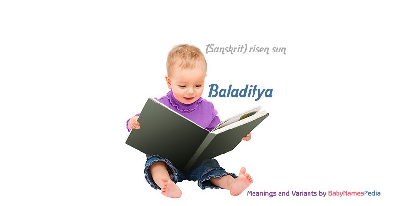 Meaning of the name Baladitya