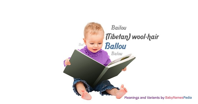 Meaning of the name Ballou
