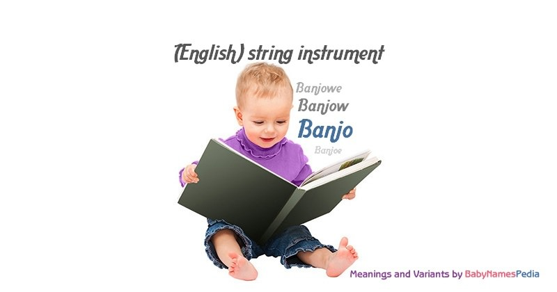 Meaning of the name Banjo