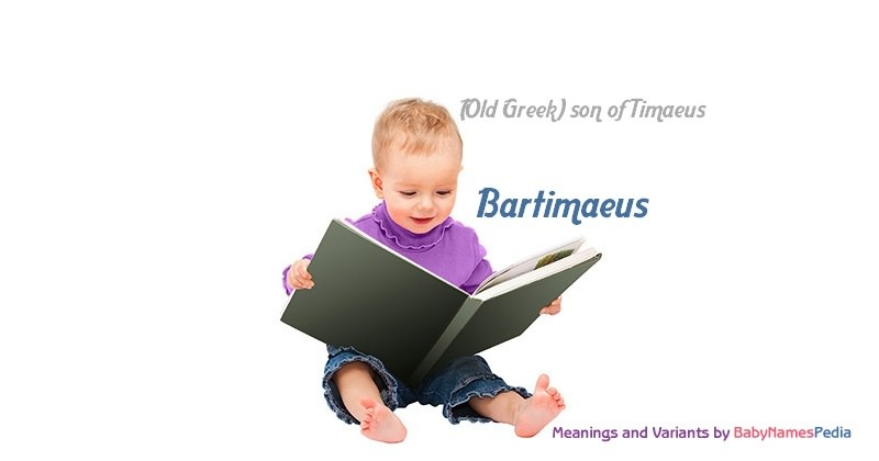 Meaning of the name Bartimaeus