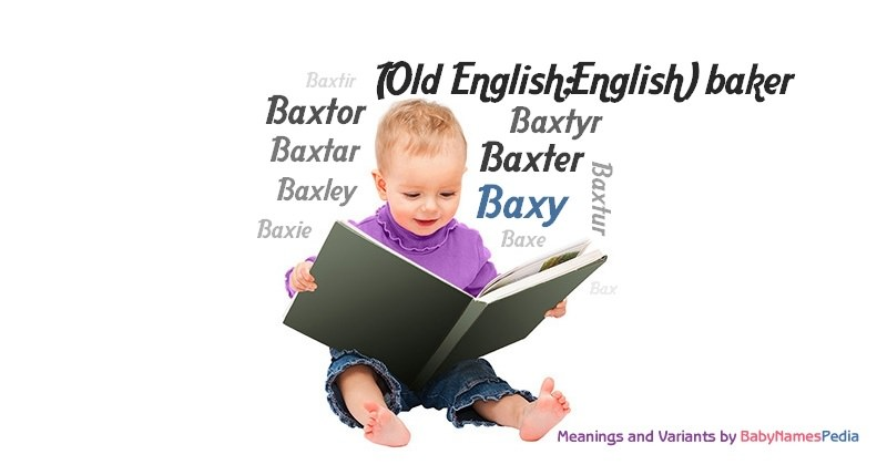 Meaning of the name Baxy