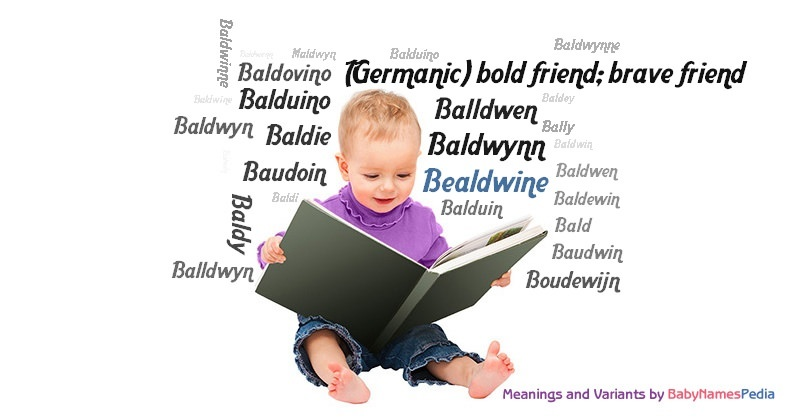 Meaning of the name Bealdwine