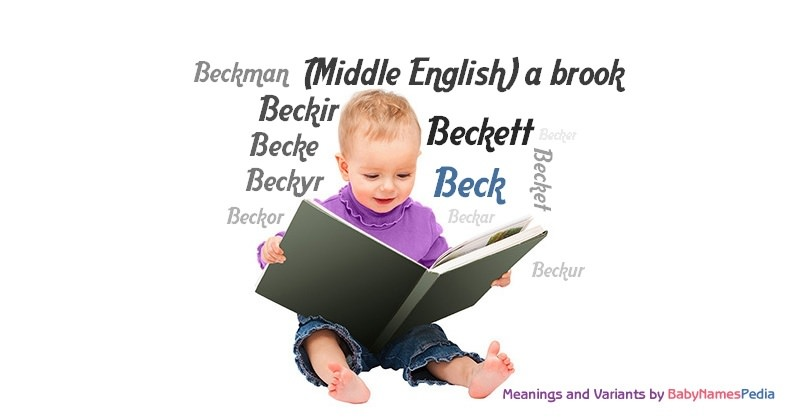 Meaning of the name Beck