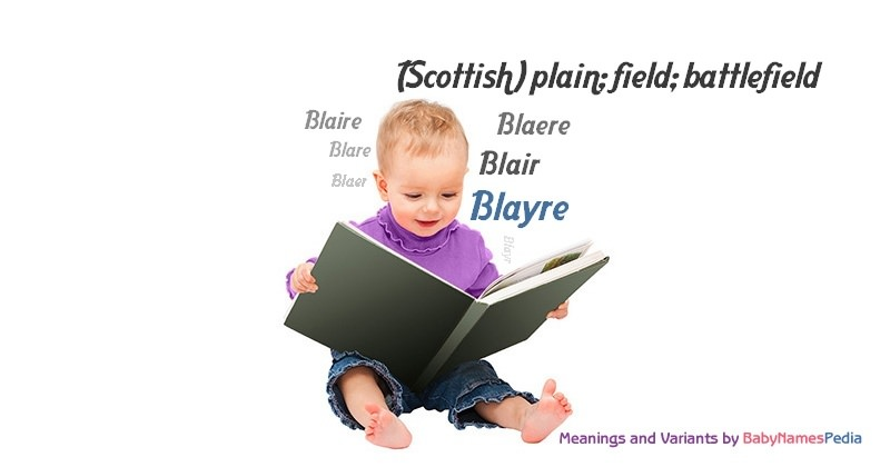 Meaning of the name Blayre