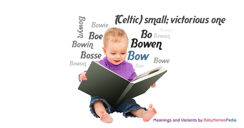 Meaning of the name Bow