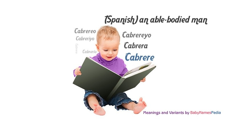 Meaning of the name Cabrere