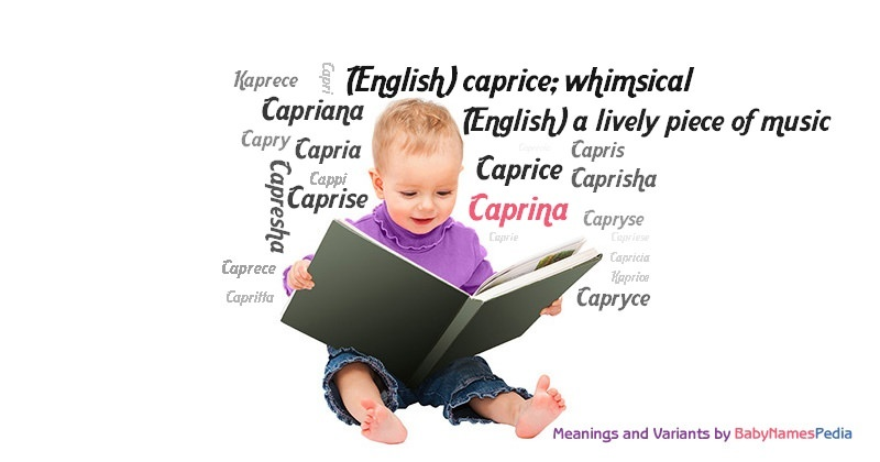 Meaning of the name Caprina