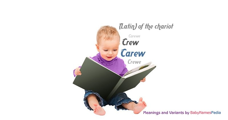 Meaning of the name Carew