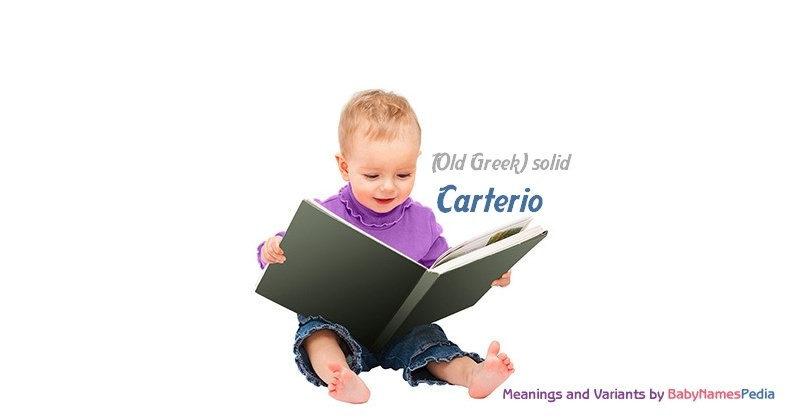 Meaning of the name Carterio