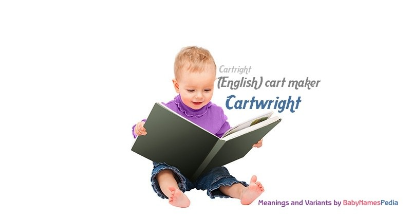 Meaning of the name Cartwright