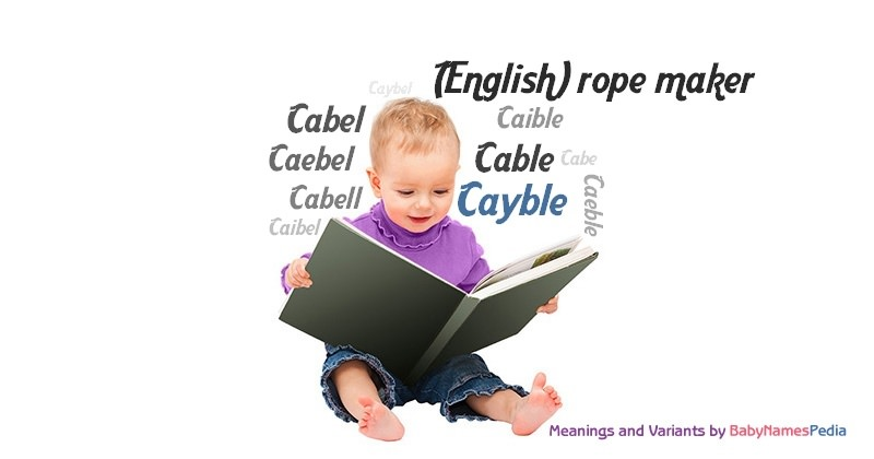 Meaning of the name Cayble