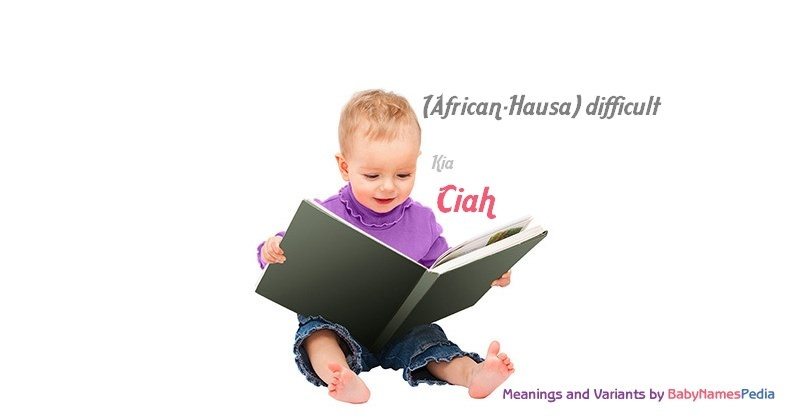 Meaning of the name Ciah