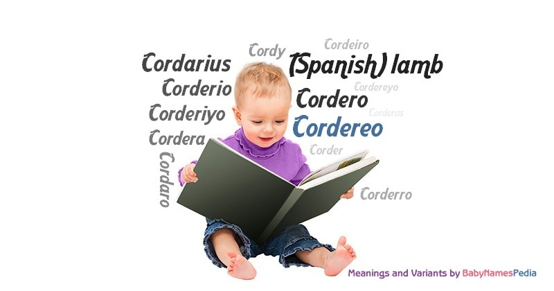 Meaning of the name Cordereo