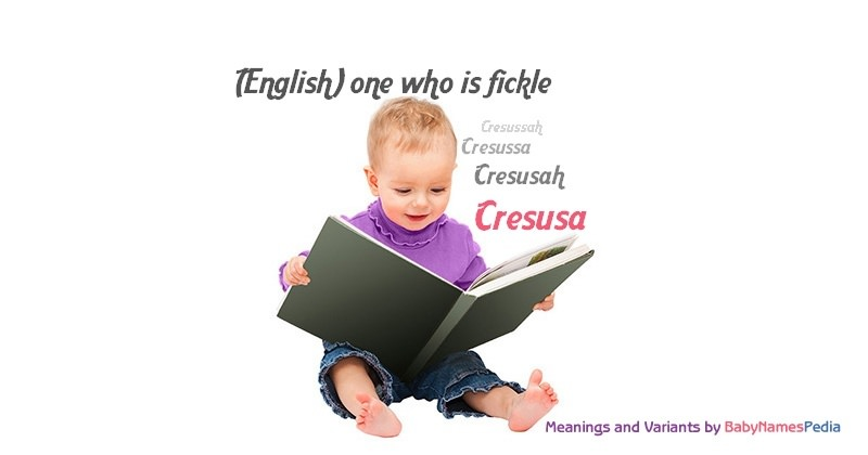 Meaning of the name Cresusa