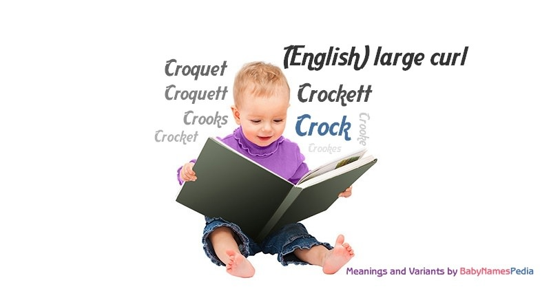 Meaning of the name Crock